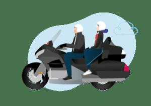 Taxi Moto Goldwing Marseille